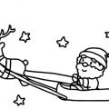Trineo De Santa Claus Para Colorear