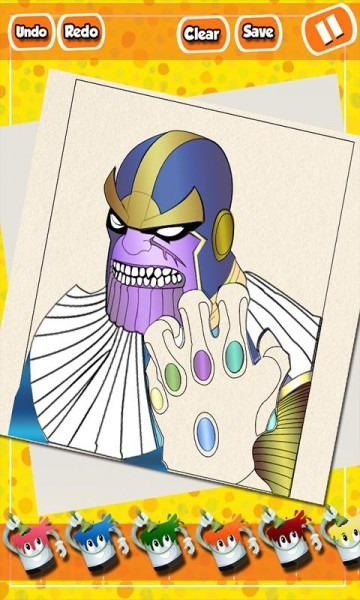 Infinito Héroe Guante  Colorear Páginas For Android