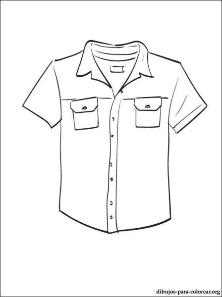 Camisa Dibujo Para Colorear E Imprimir