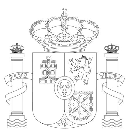 Dibujo De Escudo De Armas De España Para Colorear
