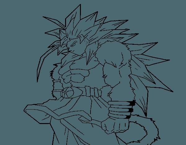 Goku En Super Sayayin 4 Para Dibujar