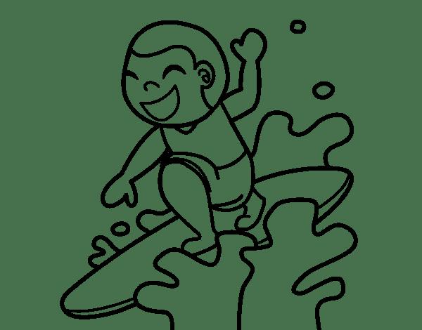 Dibujo De Surf Para Colorear