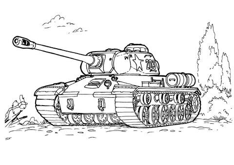 Dibujo De Tanque Is 3 Para Colorear