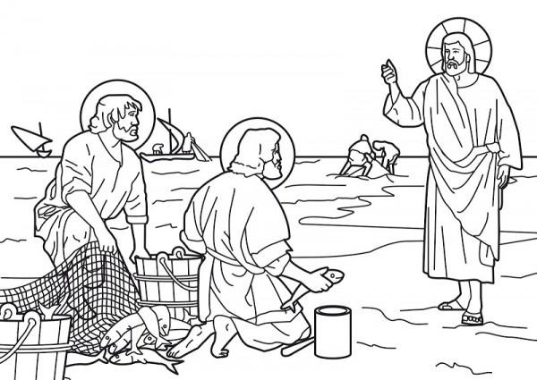Dibujos Católicos   Jesús Pescador De Hombres Para Colorear