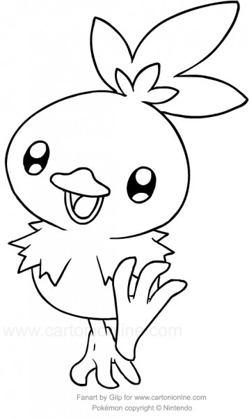 Drawing Torchic Of The Pokemon Coloring Page