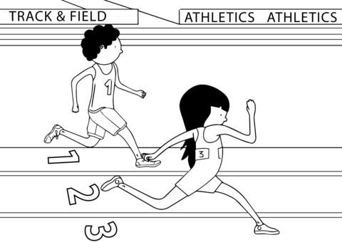 Dibujo De Atletismo Para Colorear