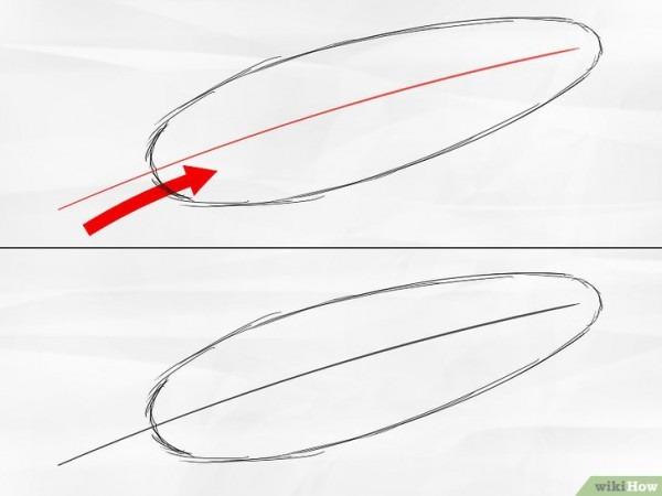 Cómo Dibujar Una Pluma  8 Pasos (con Imágenes)