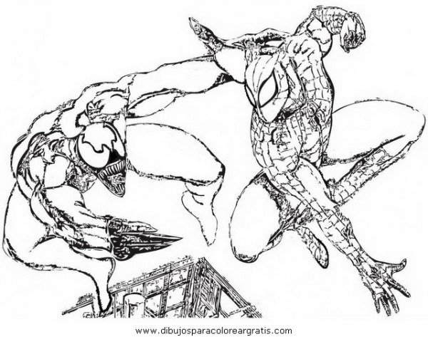 Spiderman Fighting Venom Coloring Pages  Pin Spiderman 059