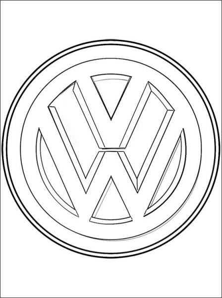 Dibujo De Logo Volkswagen Para Pintar