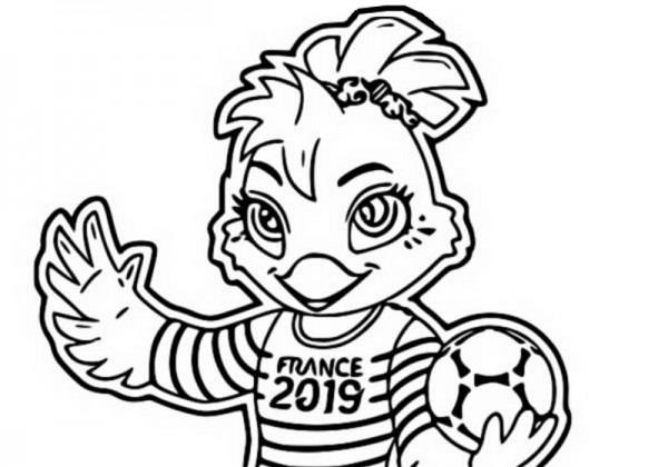 Dibujo Para Colorear Copa Mundial Femenina De Fútbol 2019   Mascota 4