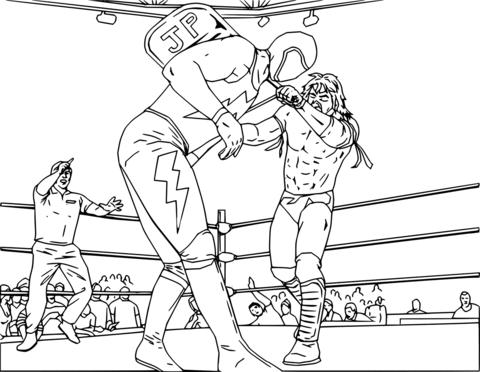 Dibujo De Lucha Libre Wwe Para Colorear
