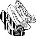 Zapatos Para Colorear